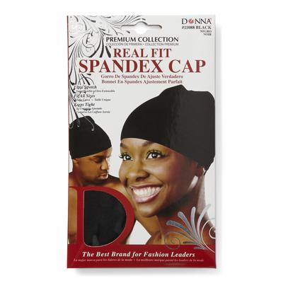 Black Spandex Cap