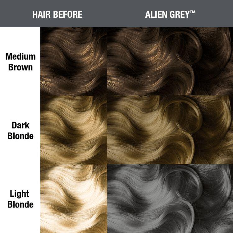 Alien Grey Semi Permanent Cream Hair Color