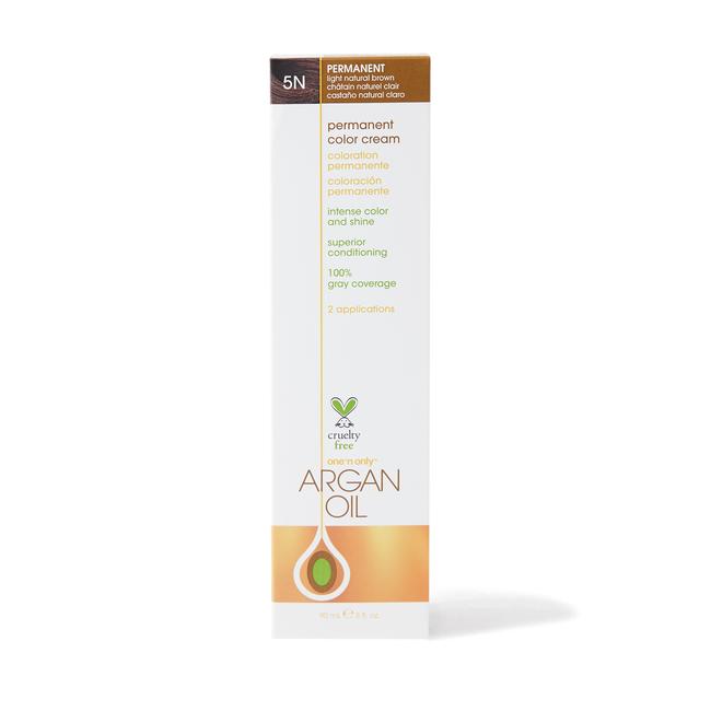 Argan Oil Permanent Color Cream 5N Light Natural Brown