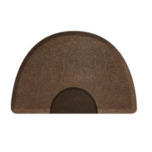 3 X 5 Granite Copper Round Mat with Chair Depression