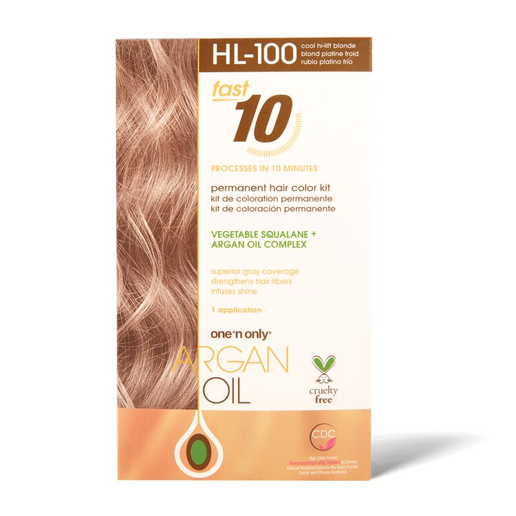 Fast 10 Permanent Hair Color Kit HL-100 Cool Hi-Lift Blonde