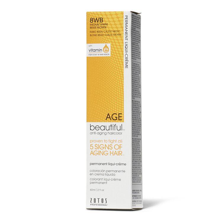 8WB Medium Warm Beige Blonde Permanent Liqui-Creme Haircolor