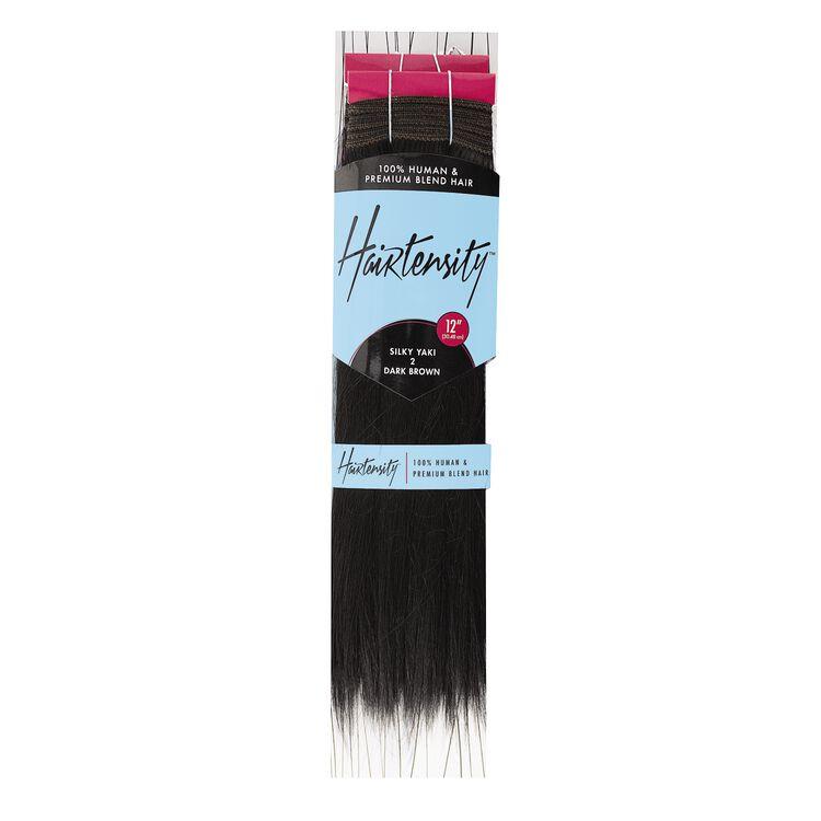 Dark Brown 12 Inch Human & Premium Blend Hair