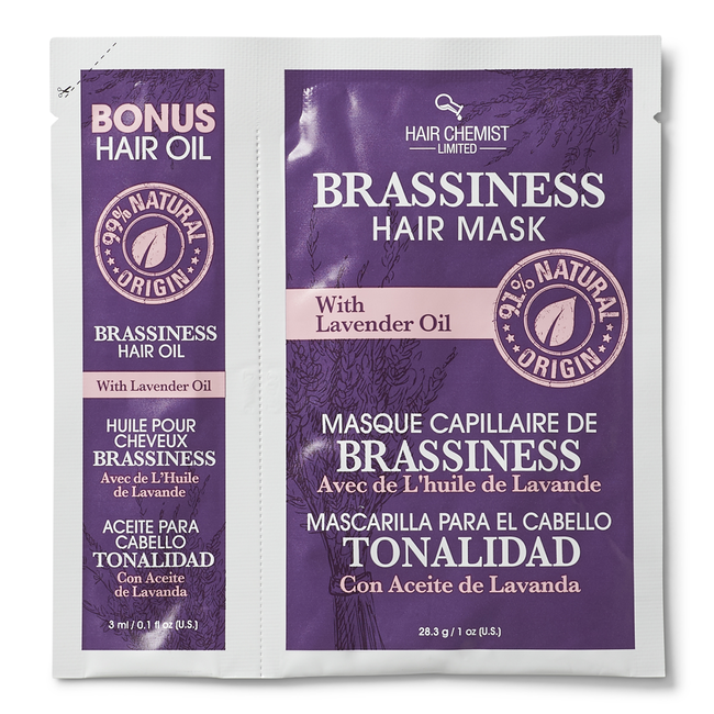Brassiness Hair Oil & Mask Packette with Lavender