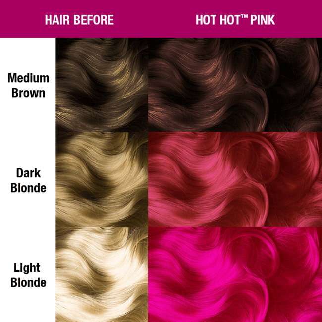 Hot Hot Pink Semi Permanent Cream Hair Color