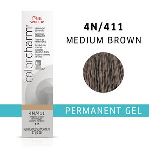 Medium Brown Color Charm Gel Permanent Hair Color