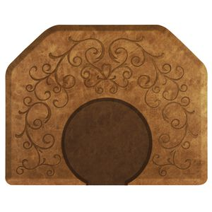Bella Copper Leaf 4' x 5' Mat with Chair Depression