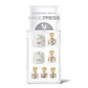 Magic Press on Nails Toe Gold Trace