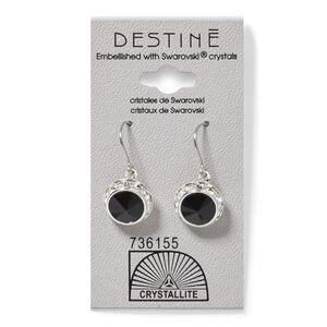 Destine Jet RS Rivoli Dangle Crystal Earring