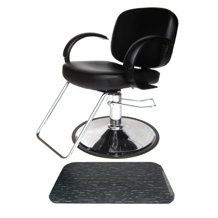 Layla Styling Chair with Marbleized Rectangle Mat