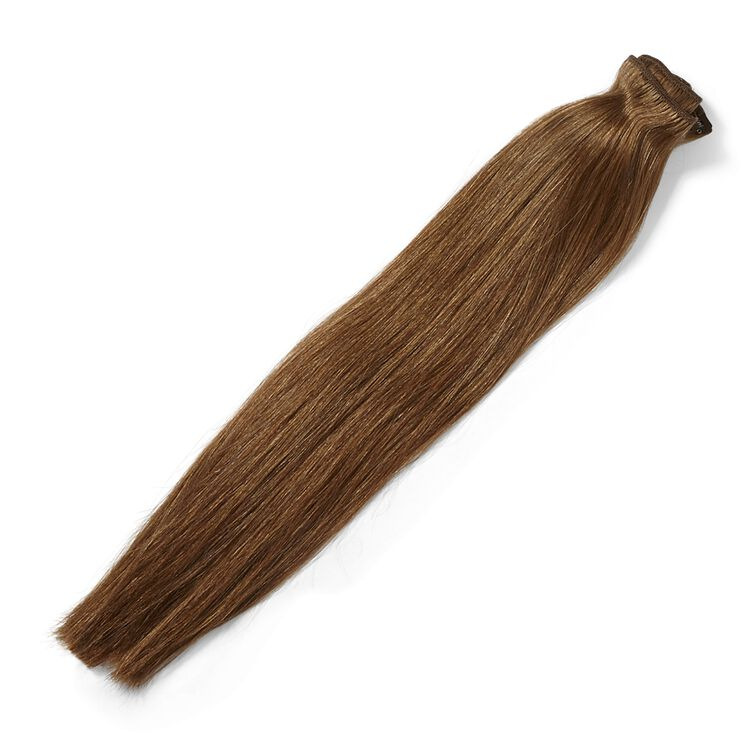 Clip In Chestnut Brown 18 Inch Human Hair Extensions