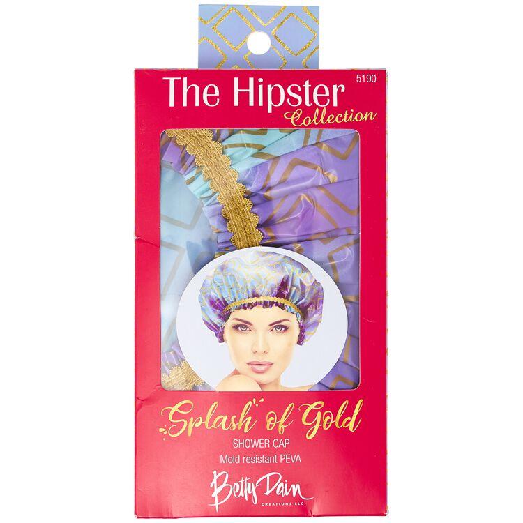 Splash of Gold Shower Cap