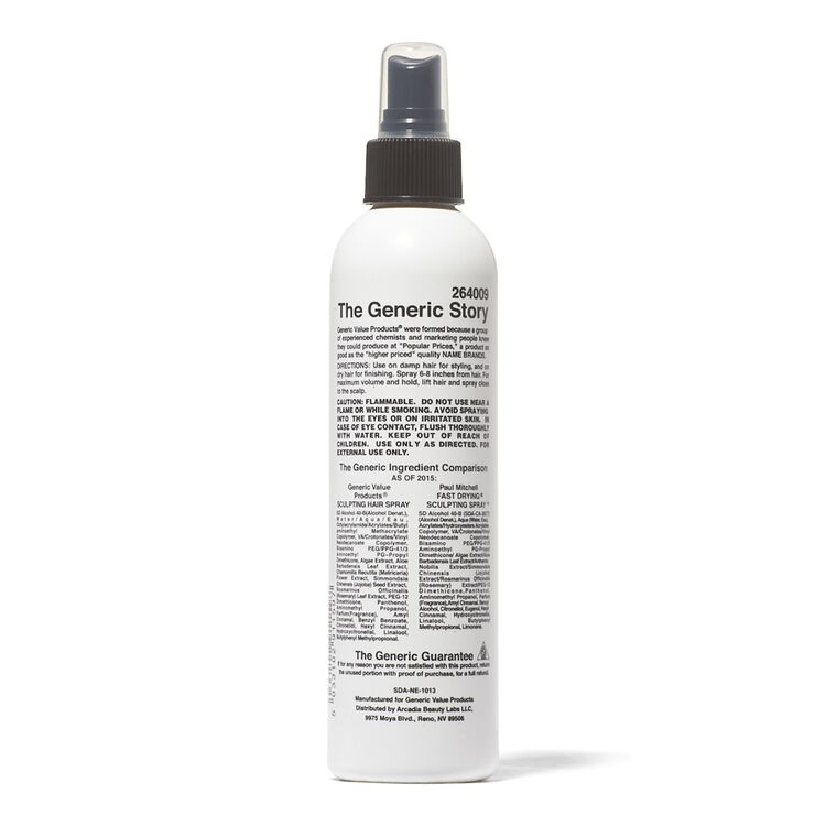 Sculpting Spray Compare to Paul Mitchell Fast Drying Sculpting Spray