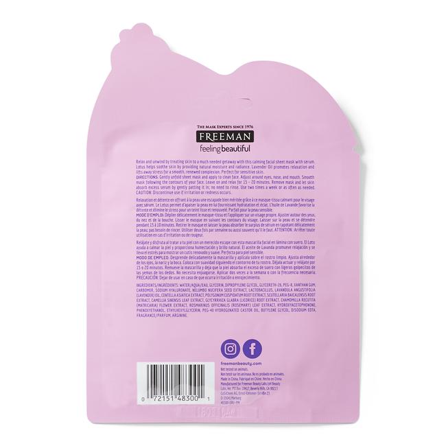 Calming Lotus & Lavender Oil Sheet Mask