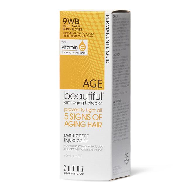 9WB Light Warm Beige Blonde Liquid Permanent Haircolor