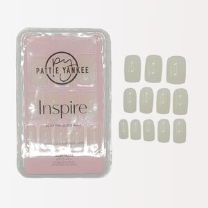 Inspire 24 DIY Pre-Glued Natural Square Nails
