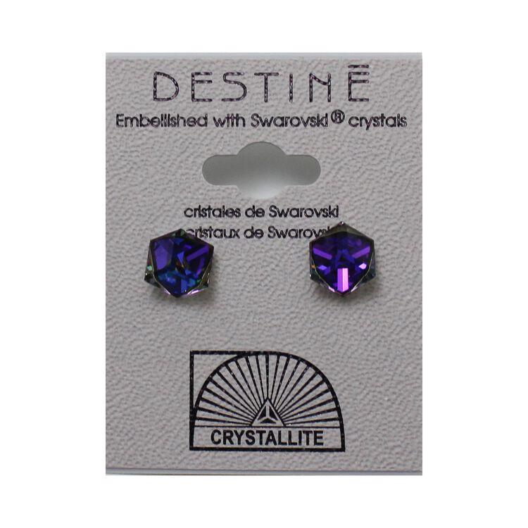 Destine Earring HL Tilted Cube 6mm