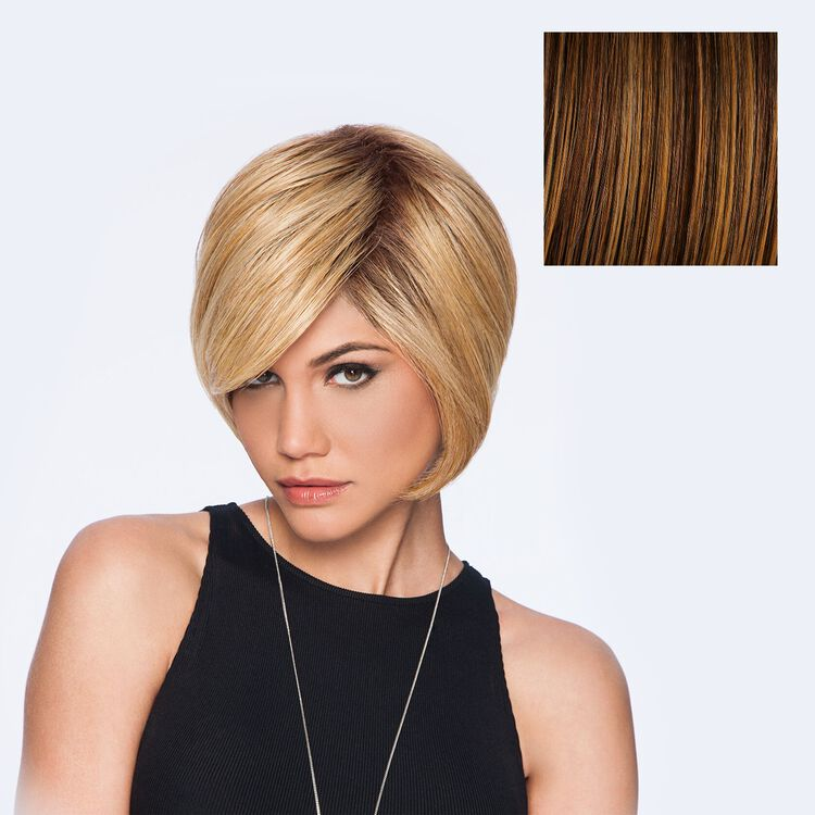Layered Bob Wig Rooted Golden Wheat
