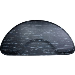 3 X 5 Black Marbleized Mat Half Circle