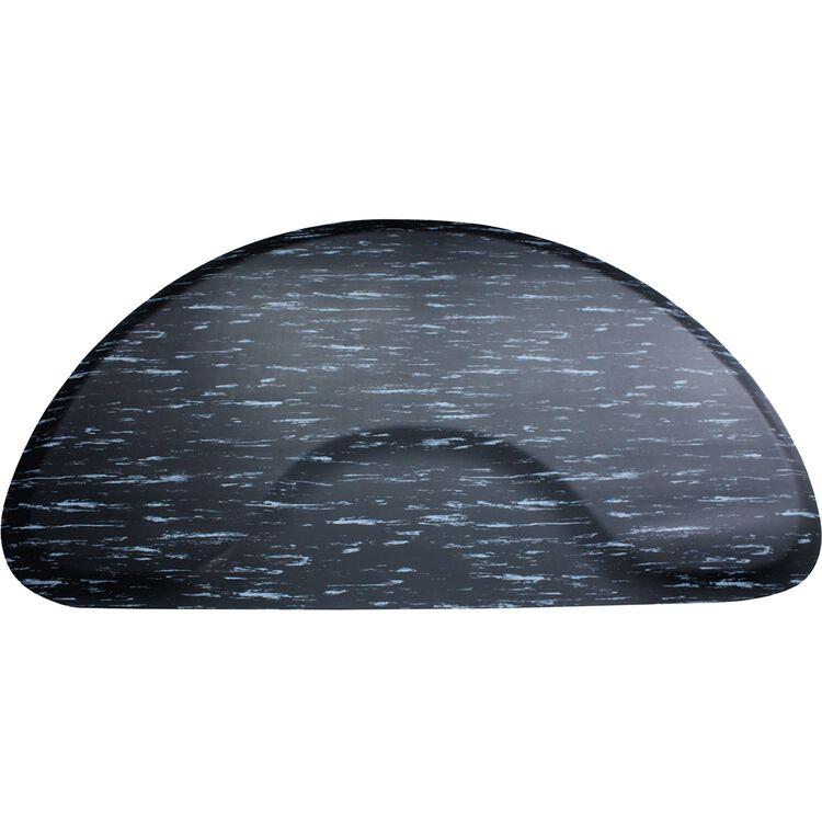 3 X 5 Black Marbleized Mat Half Circle