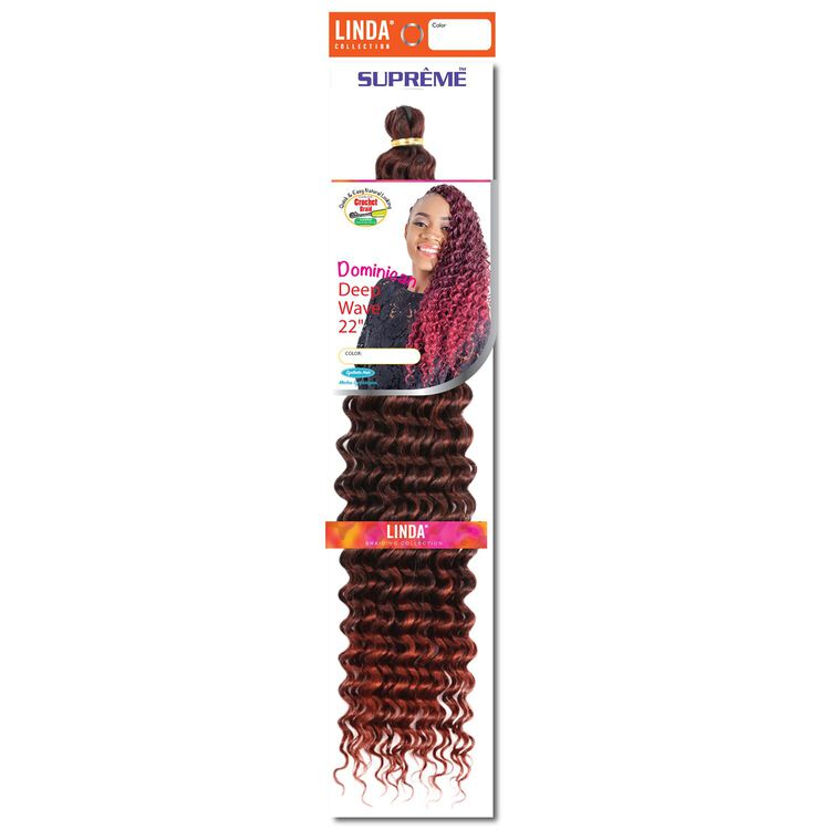 Dominican Wave 22 Inch Crochet Hair Ombre Black/Brandy Copper