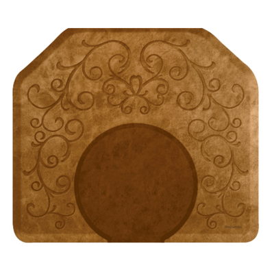 Bella Copper Leaf  Mat with Chair Depression
