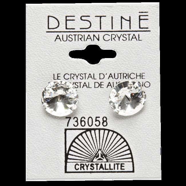 Destine Clear Rivoli Earrings