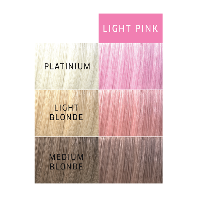 Paints Light Pink Semi Permanent Hair Color
