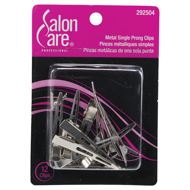 Metal Single Prong Curl Clips
