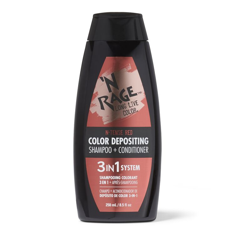 3 In 1 Color Depositing Shampoo & Conditioner N Tense Red
