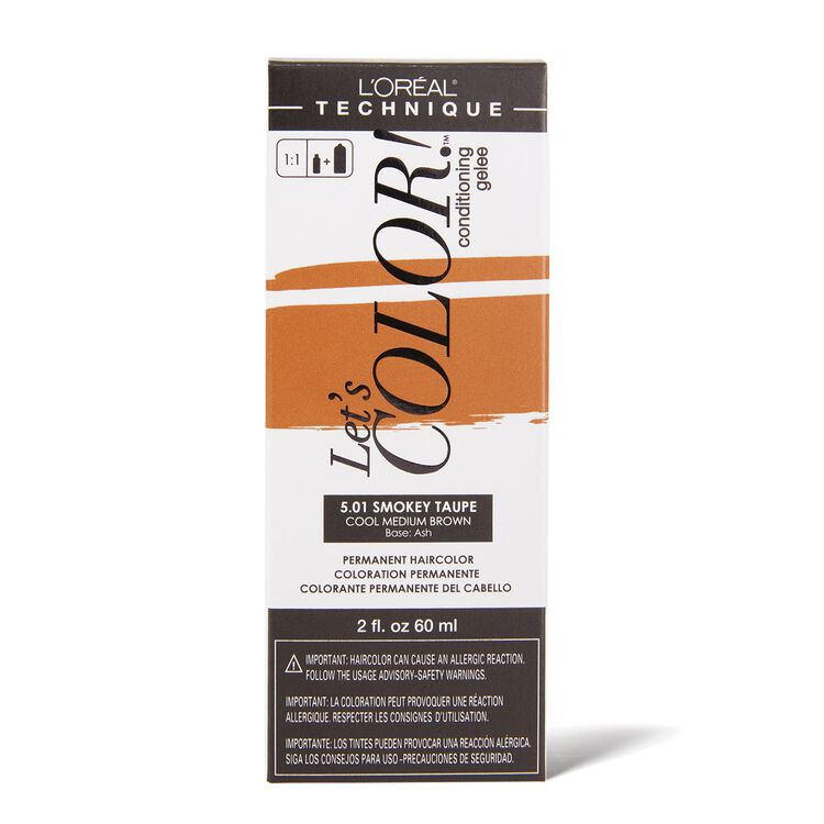 Let's COLOR! Conditioning Gelee Permanent Haircolor 5.01 Smokey Taupe