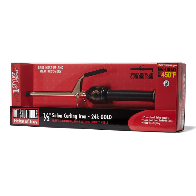 Gold Series Spring Curling Iron 1/2 Inch