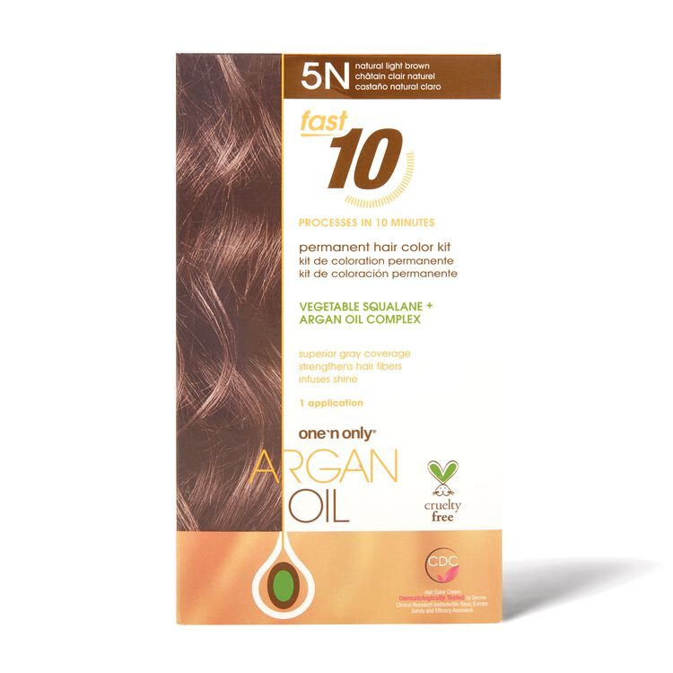 Fast 10 Permanent Hair Color Kit 5N Natural Light Brown