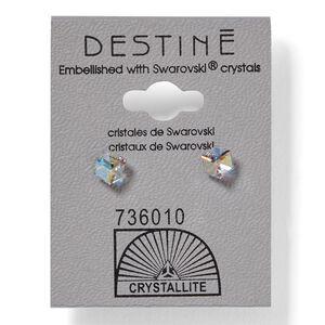 Destine Aurora Borealis Cube Earrings