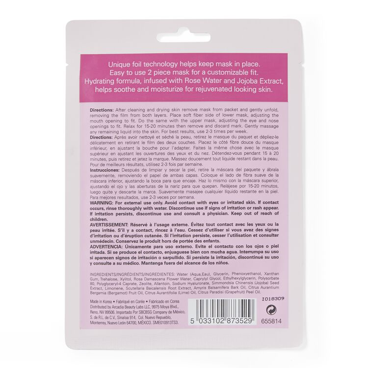 Soothing & Hydrating Pink Foil Mask