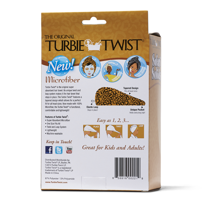 Turbie Twist Microfiber Hair Towel 2 pk