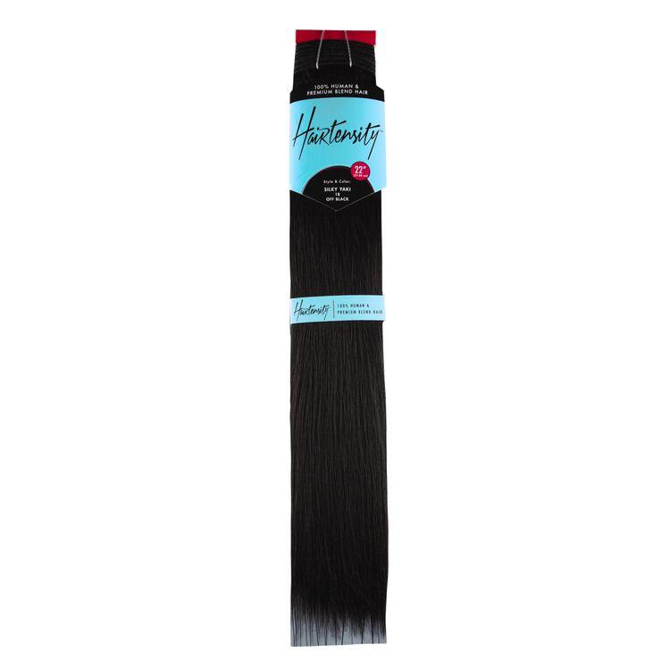 Off Black 22 Inch Human & Premium Blend Hair