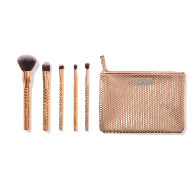 Rose Gold 6 Piece Cosmetic Brush Set