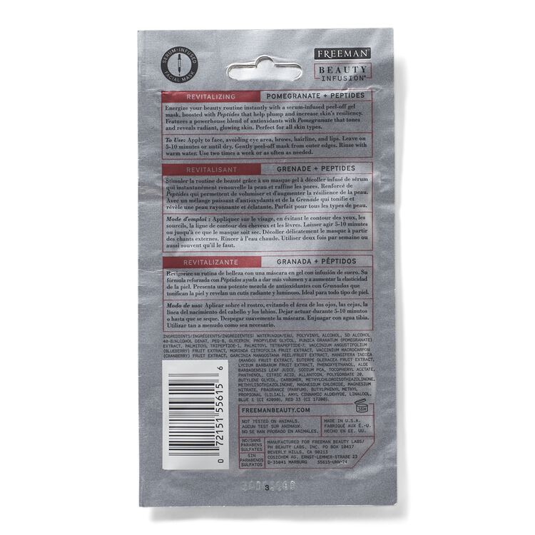Revitalizing Pomegranate & Peptides Peel Off Mask Sachet