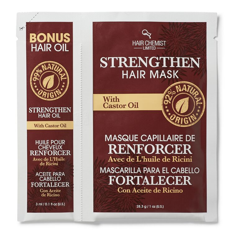 Strengthen Hair Oil & Mask Packette with Castor Oil