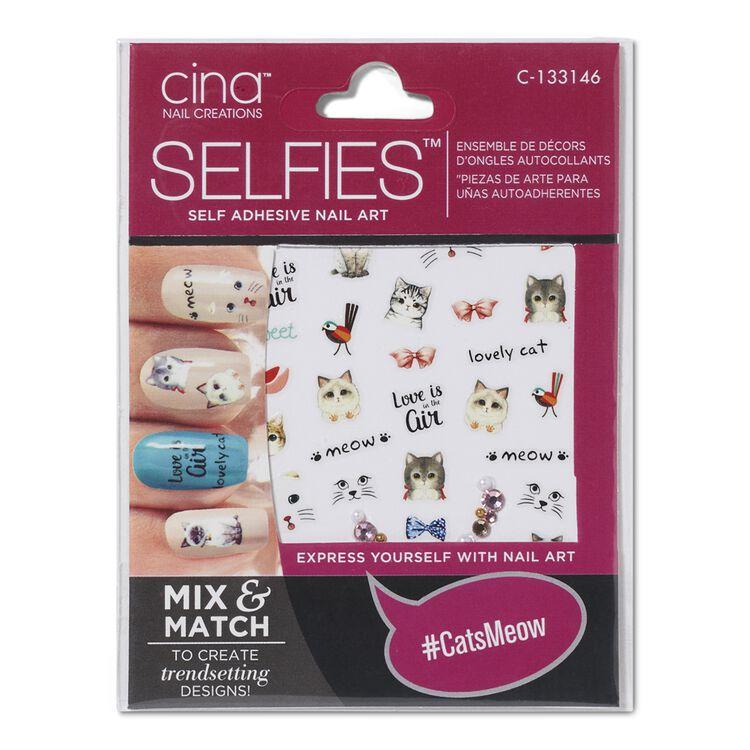 Selfies Catsmeow By Cina Nail Art Design Sally Beauty