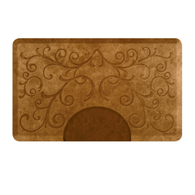 Bella Copper Leaf 3' X 5' Rectangle Mat with Chair Depression