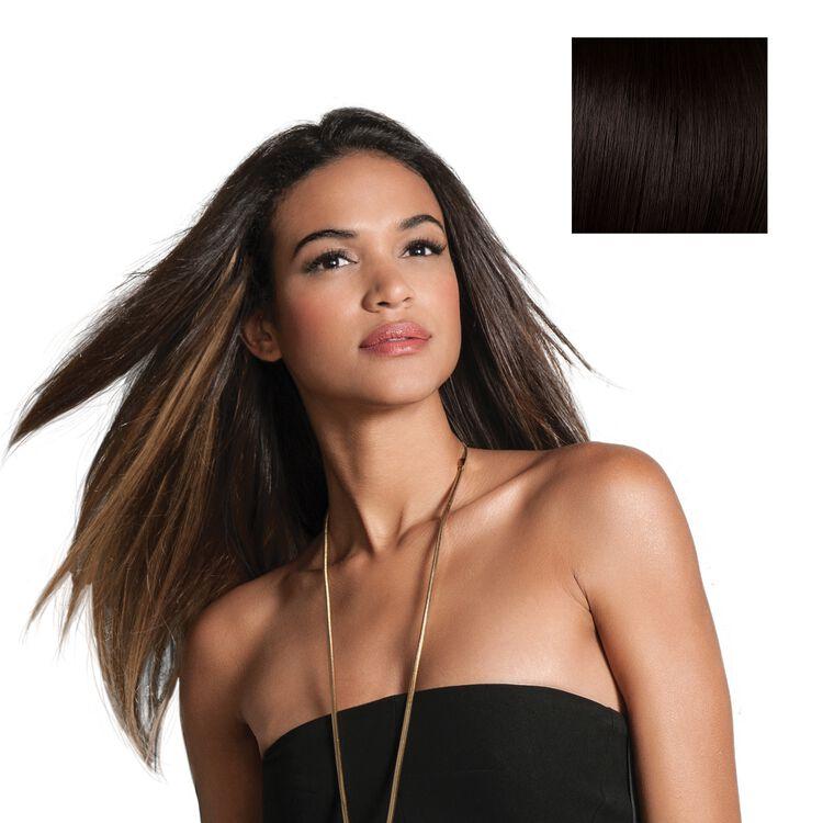 18 Inch Human Hair Highlight Extension Midnight Brown
