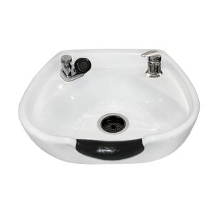 White 8100 Stationary Porcelain Shampoo Bowl