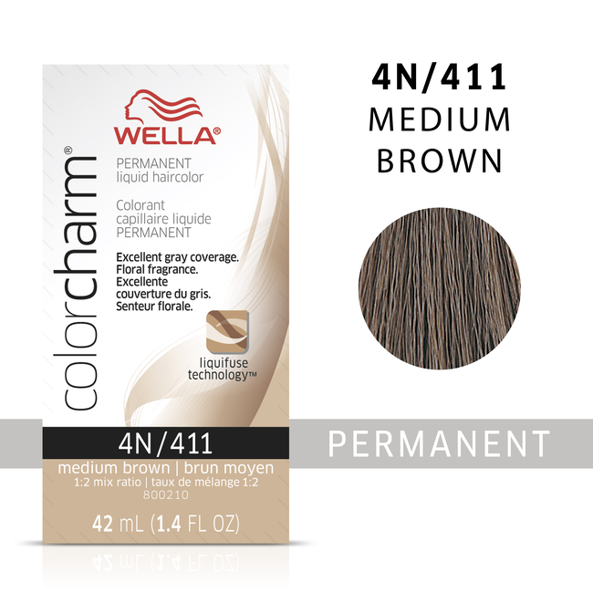 Medium Brown Color Charm Liquid Permanent Hair Color