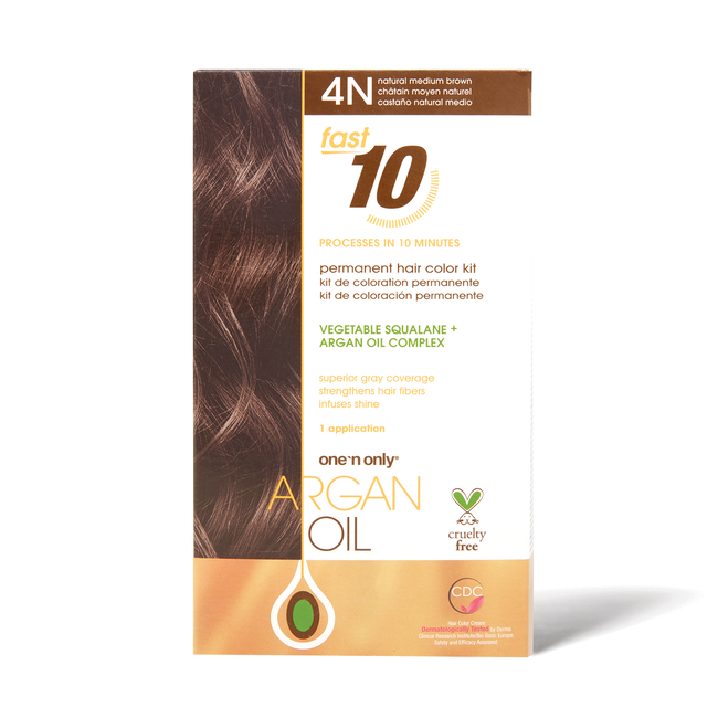 Fast 10 Permanent Hair Color Kit 4N Natural Medium Brown