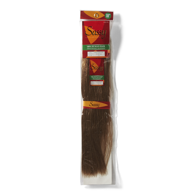 Silky Straight Chestnut Brown 18 Inch Human Hair Extension