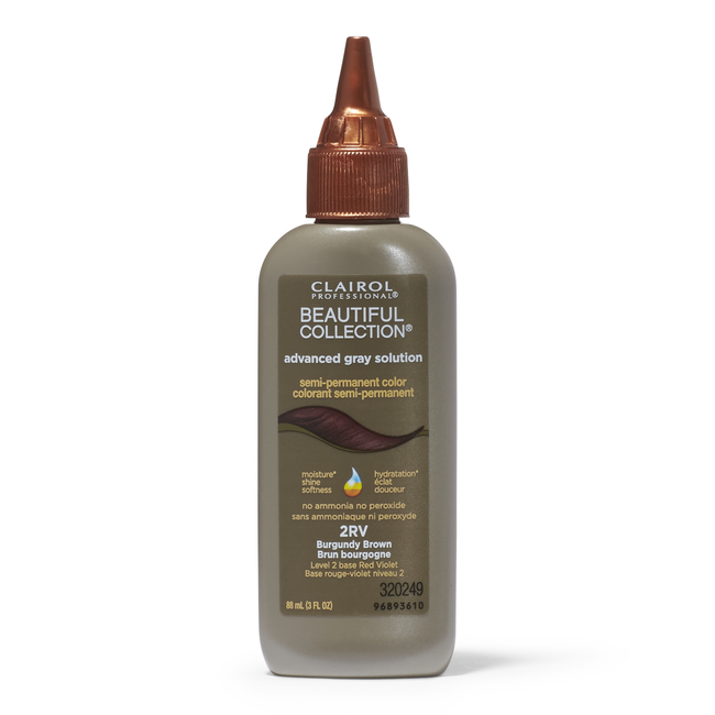 2RV Burgundy Brown Semi Permanent Hair Color