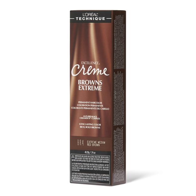BR4 Medium Red Brown Permanent Creme Hair Color