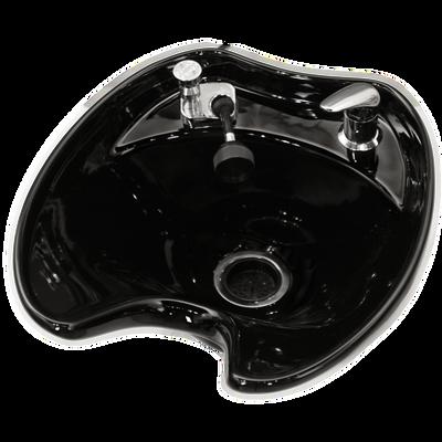 Black 8600 Tilting Porcelain Shampoo Bowl